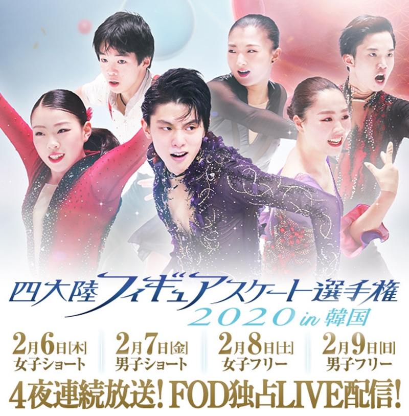 四大陸フィギュアスケート選手権2020in韓国